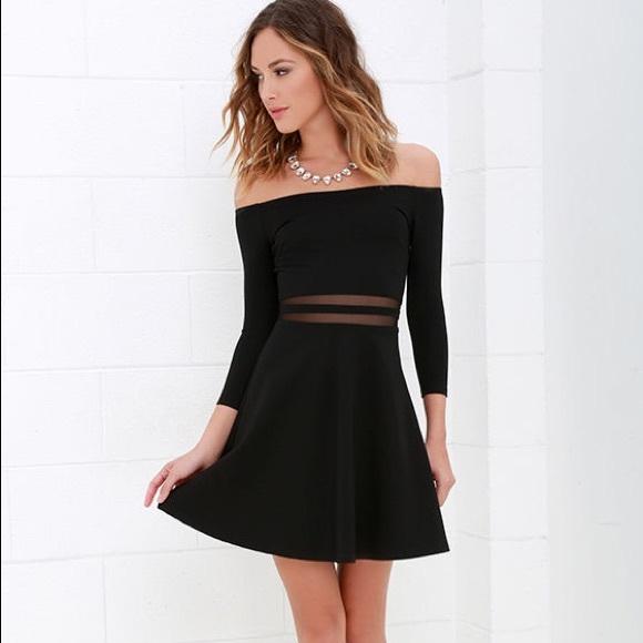 Lulus Dresses Lulus Yes To The Mesh Black Skater Dress Poshmark